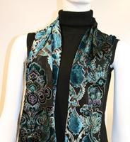 velvet neck scarves